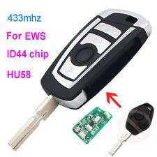 Modified flip 433MHZ remote key fob for BMW EWS E38 E39 E46 with ID44 chip HU58