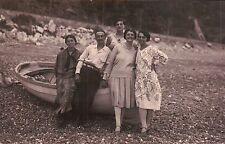 VERA FOTO GOZZO LIGURE FAMIGLIA IN SPIAGGIA IN LIGURIA FORSE GENOVA 1930  5-16