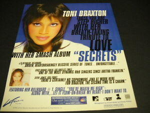 TONI BRAXTON Takes You One Step Higher original 1996 PROMO POSTER AD mint cond