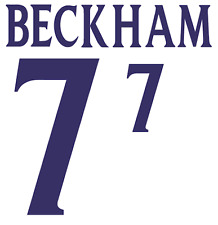 England Beckham 2002 Nameset Shirt Soccer Number Letter Heat Print Football H