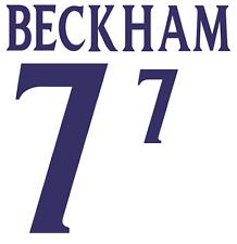England Beckham 2002 Nameset Shirt Soccer Number Letter Heat Print Football H