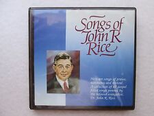 SONGS OF JOHN R. RICE Six Cassettes A COLLECTION OF 60 GOSPEL FILLED SONGS