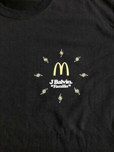 J Balvin X Mcdonalds Brand New Authentic Black T Shirt Choose your Size Promo