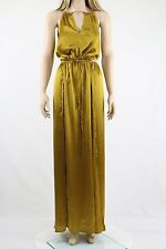 ASOS Gold Side Cut Out Keyhole Maxi Cocktail Party Dress UK SIZE 8 36