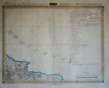 OSTPREUSSEN Nordwesten Landkarte Original um 1810!