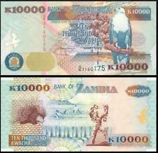 ZAMBIA 10000 KWACHA 1992 P.42a UNC PREFIX G/A