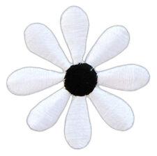 Blümchen Blüten gelb weiß 3 Stück je Packung Applikation Patch zum Aufbügeln 2cm