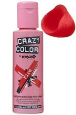 Crazy Color Semi Permanent Hair Colour Dye Cream by Renbow 100ml All Colours Fire 56 Cc56