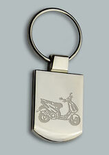 Engraved new SCOOTER  bike Design - Free Personalised  Metal Keyring Boxed