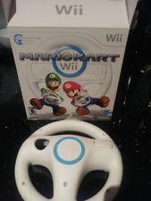 Nintendo Wii Steering Wheel WHITE in Box