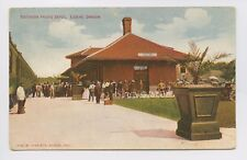 Postcard - Eugene, OR - EARLY 1910 VIEW OF TRAIN DEPOT - Bicycles Passengers SPR