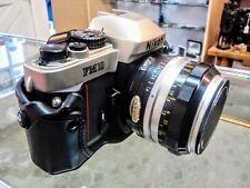 Vintage Nikon FM 10  SLR 35mm Camera with  Nikor-S Auto 50mm f:1.4. Len and Case