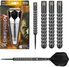Adrian Lewis Black Pixel Grip 90% Tungsten Steel Tip Darts by Target