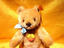 NICE ORIGINAL STEIFF MOHAIR TEDDY BEAR W/ TAGS AND EYEGLASSES, MADE IN GERMANY,