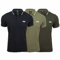 Mens Polo T Shirt Crosshatch Mickleton Pique Tipped Top Short Sleeved Summer New