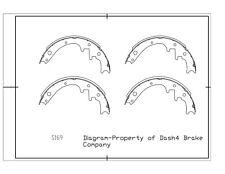 Drum Brake Shoe-Front Drum, Rear Drum Rear,Front Pronto S169R