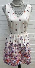 New Look Size 10 Dress Cream Floral Skater Wedding Occasion Party