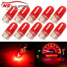 10pcs T10 168 194 LED Bulbs Red Step Light Lamp Incandescent GMC Sierra 2500