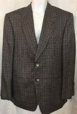 Tom Ford Jacket Brown And Gray Wool And Linen Peak Collar Size 54