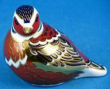 Royal Crown Derby Chaffinch Paperweight - no box - silver stopper