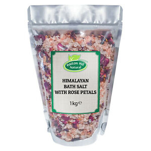 Himalayan Bath Salt with Rose Petals - Free UK Delivery