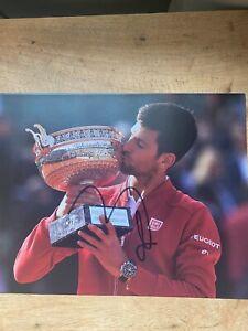 Novak Djokovic Signed French open Photo TENNIS AUTOGRAPH GOAT US OPEN WIMBLEDON