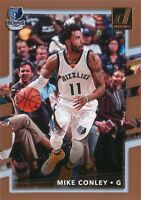 Mike Conley 2017-18 Panini Donruss Basketball Base Card #72 Memphis Grizzlies