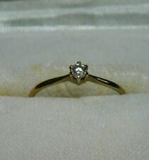 Gold Ring 333, Gr. 54 / 17,2 / 1 kleiner Diamant, alt 1980er