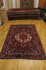 Warm Color Rare Signed Bakhtiari Isfahan Persian Oriental Area Rug Carpet 7X10