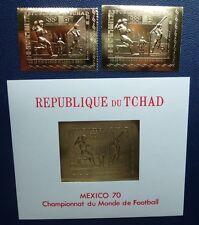 Tschad Tchad 1970 Fußball Soccer Olympiade Gold 306 A B Block 7 Postfrisch MNH