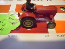 #06 Wiking Porsche Diesel Tractor 386/3 B red Schlepper