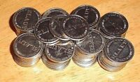 Lot of 25 Elaut Silver Tokens Dave & Buster's Coin Pusher Star Trek Wizard of Oz
