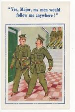 Donald McGill Army Major Vintage Comic Postcard 763b