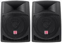 """Pair Rockville Power Gig RPG12 12"""" Powered Active 1600 Watt 2-Way DJ PA Speakers"""