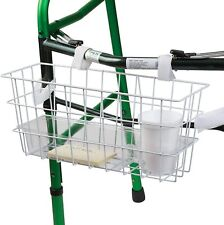 HealthSmart Walker Basket Universal For With Tray And Cup Holder Rollator White