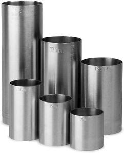 Stainless Steel Spirit Thimble Measure Wine Jigger 25/35/50/125/175/250ml CE