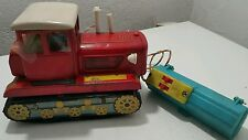VINTAGE TRACTOR TIN TOY ME 701 OLD CHINA BATTERY OPERATED 461 REMOTE CONTROLED