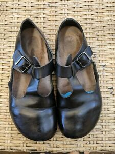 Birkenstock Women's London Clog Shoes Oiled Leather  Black EU 39