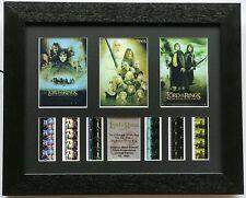 More details for lord of the rings - triple presentation v1 original filmcell memorabilia coa