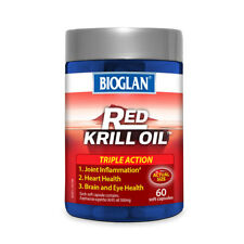 BIOGLAN RED KRILL OIL TRIPLE ACTION 60 SOFT CAPSULES 500MG HEART HEALTH JOINTS