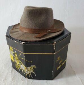 Vintage Dobbs Fifth Ave Hats, New York Miniature Salesman Sample Hatbox Doll Hat
