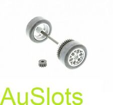 Scalextric W9288 Seat Leon Rear Wheel Axle Assembly C2704 C2705 C2825 Fits C2912