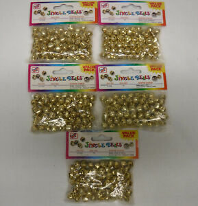 375 pc lot 9mm small Gold Metal Jingle Bells for Crafts, Charms new packages