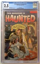 This Magazine is Haunted #13 CGC 2.5 GD+ Decapitation Cover Off White/White