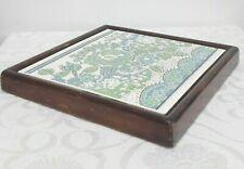 Vintage Trivet Pan Rest Tile - Floral Ceramic Tile Pot Stand - William Morris?