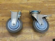 Push Cart Caster Wheels with Foot Break for Trolley Handcart and Hand Truck