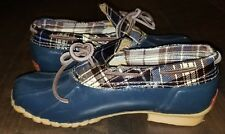 SPORTO ORIGINAL Womens Size 6 Aroostic Leather Rubber Rain Duck Boots Shoes