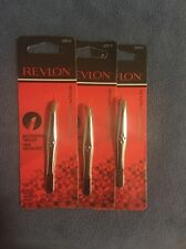 Set Of 3 Revlon Stainless Steel Multipurpose Tweezer New In Package