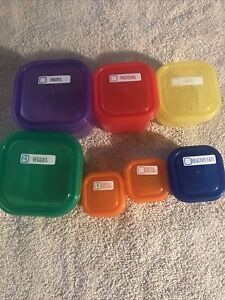 BEACHBODY 21 DAY FIX PORTION CONTROL CONTAINERS