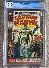 Marvel Super-Heroes #12 (CGC 9.2 OW/White) VF/NM 1st Appearance Captain Marvel